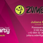 Zumba Visitenkarte